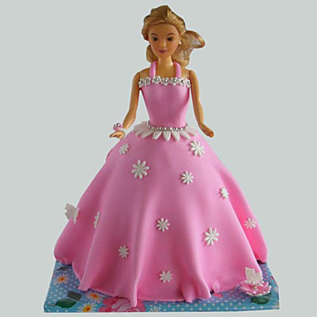 Just Wow Barbie Cake 2Kg Eggless Butterscotch