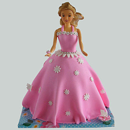 Just Wow Barbie Cake 3Kg Butterscotch