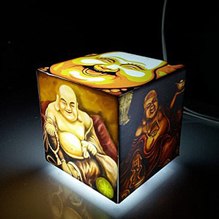 Laughing Buddha Cube Lamp