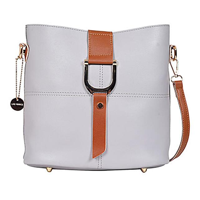 Lino Perros Cool Grey Shoulder Bag