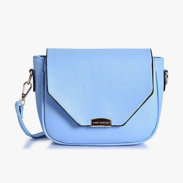 Lino Perros Leatherette Skyblue Sling Bag
