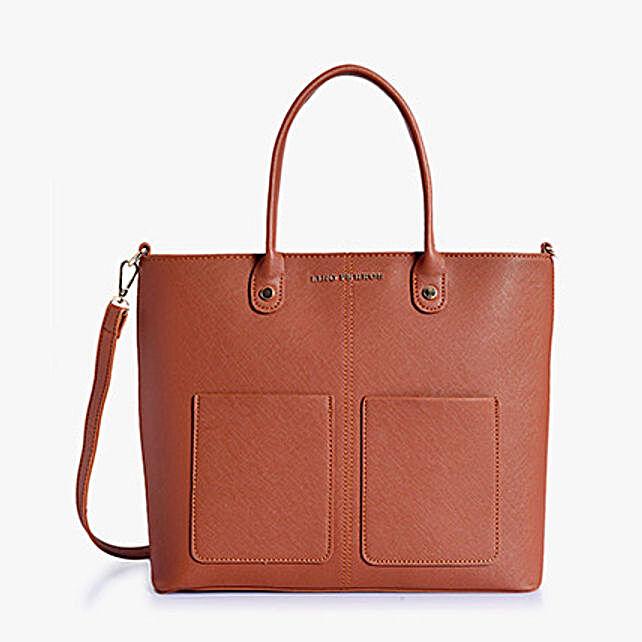 Lino Perros Magnificent Brown Handbag