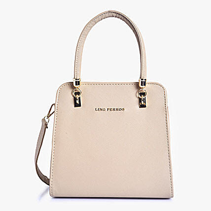 Beige Stylish Handbag