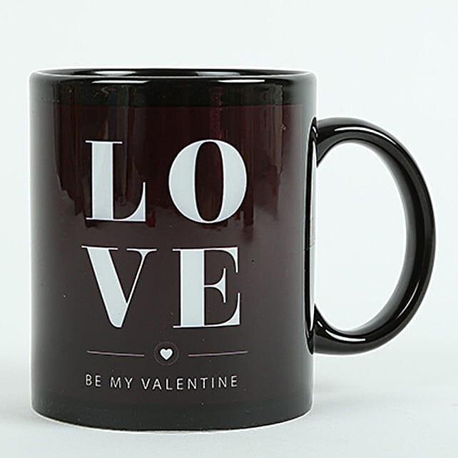 Love Ceramic Black Mug