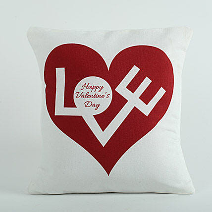 Love Cushion White