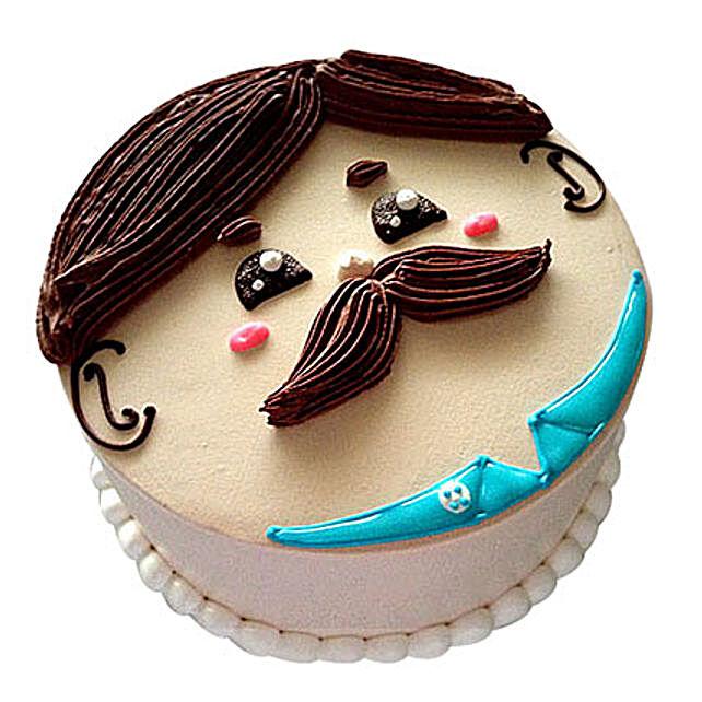 Lovely Designer Cake 3kg Chocolate Eggless