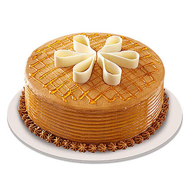 Lush Caramelt Cake 1Kg For Icici Eggless