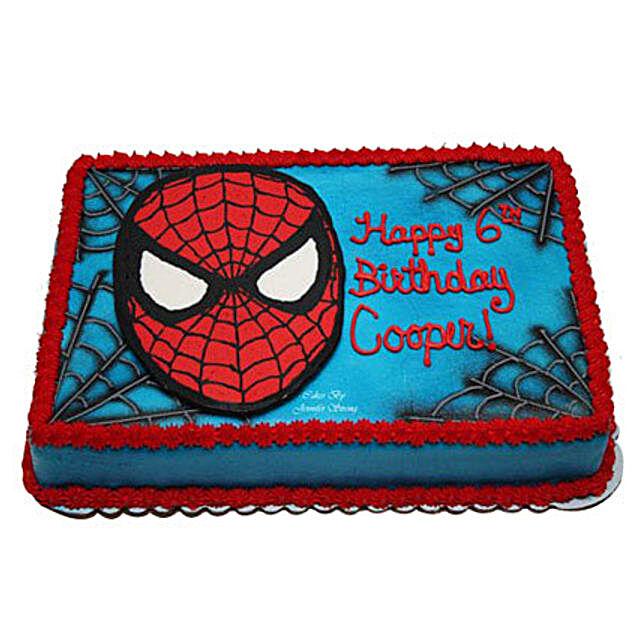 Mask of Spiderman Cake 2kg Black Forest