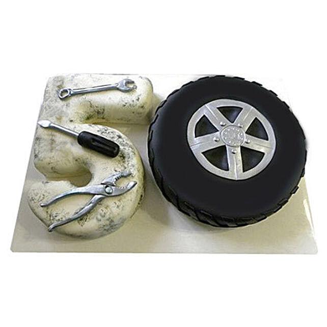 Mechanic Fondant Cake 4kg Eggless Truffle