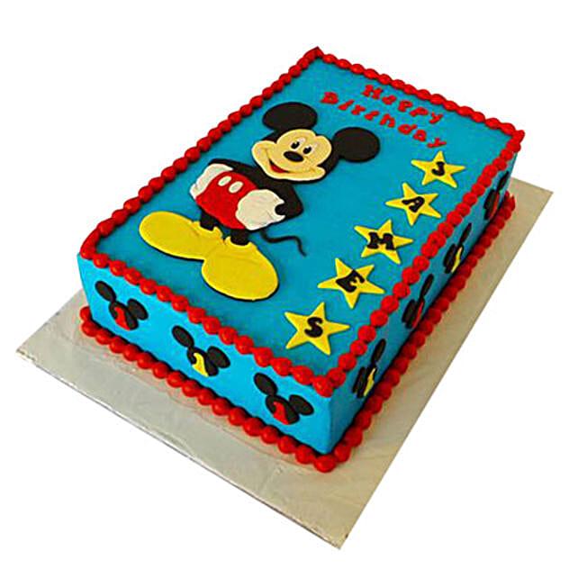 Mickey Mouse Designer Fondant Cake 4Kg Eggless Black Forest