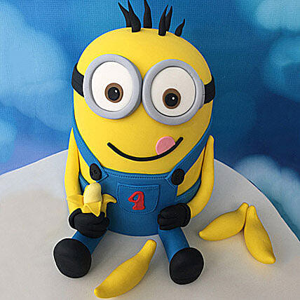 Minion with Bananas Cake 3kg Truffle