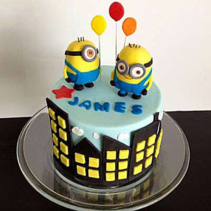 Minions with balloons 4kg Black Forest