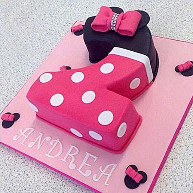 Minnie Love Cake 2Kg Eggless Vanilla