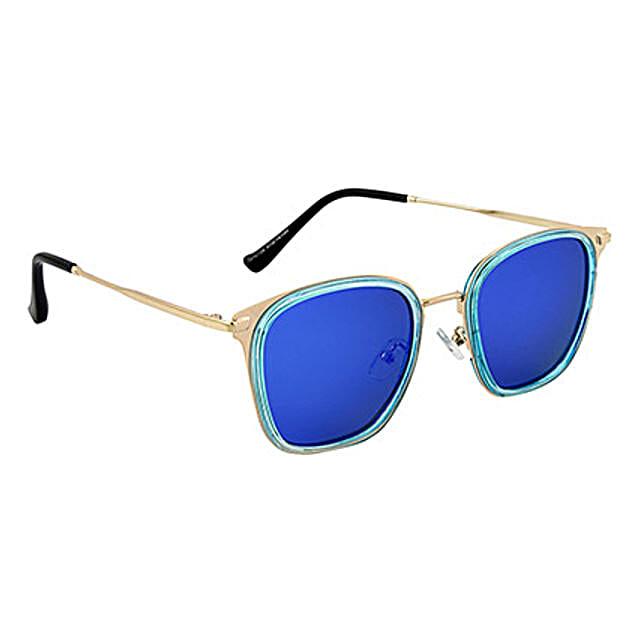 Mirrored Rectangle Unisex Sunglasses