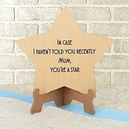 Star shaped tabletop for mother