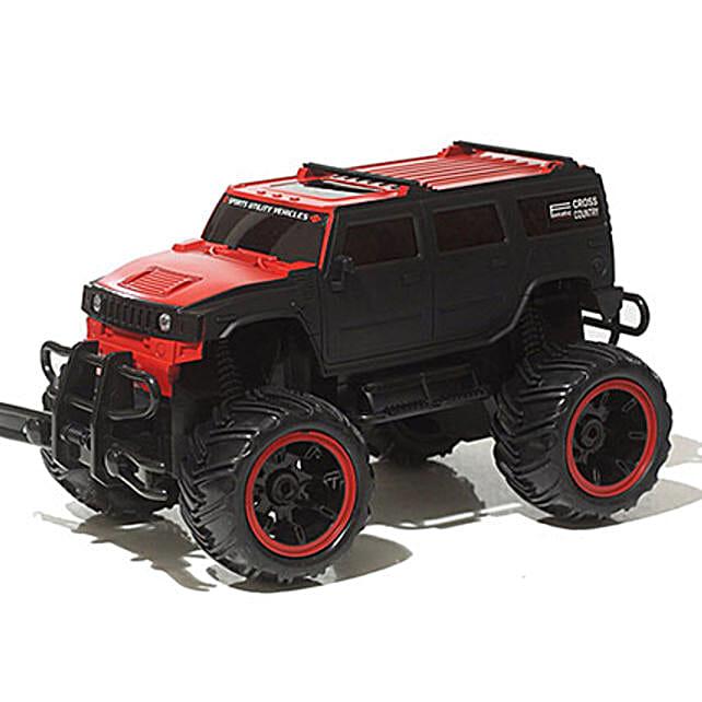 Monster Truck In Red N Black