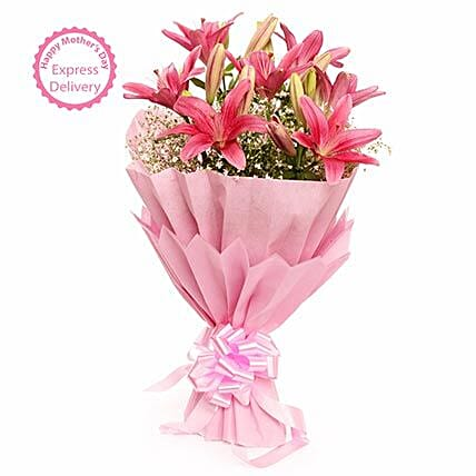 Mothers Day Spl Captivating Asiatic Lilies FNP
