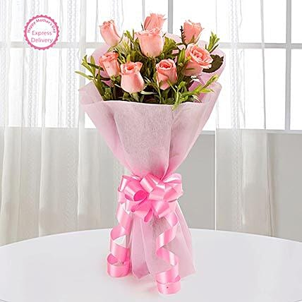 Mothers Day Spl Endearing Pink Roses by FNP