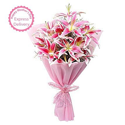 Mothers Day Spl Luxurious Lillies by FNP