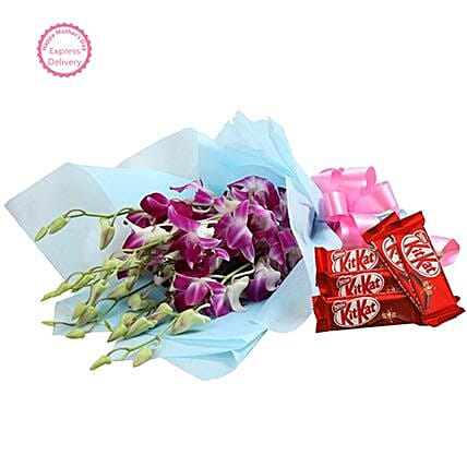 Mothers Day Spl Orchids with Chocolates FNP