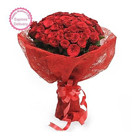 Mothers Day Spl Roses in Jute Packing by FNP