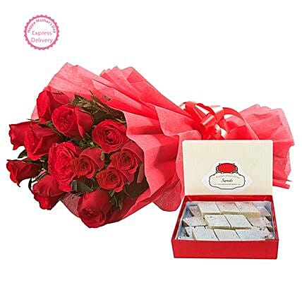 Mothers Day Spl Sweets N Roses by FNP