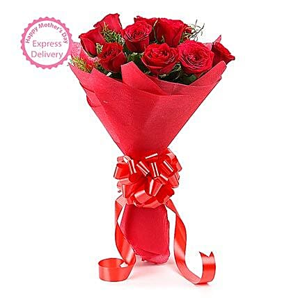 Mothers Day Spl Vivid 24 Roses by FNP