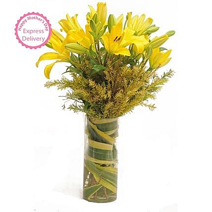 Mothers Day Spl Yellow Asiatic Lilies by FNP