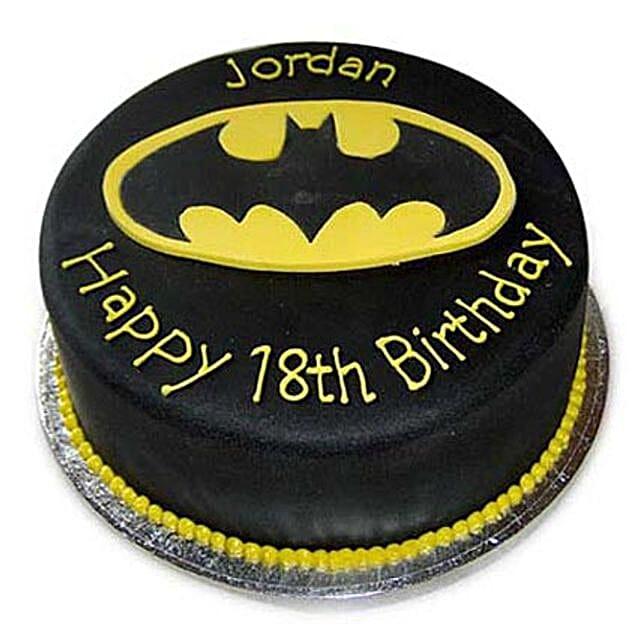 Mouthwatering Batman Cake 2kg Eggless