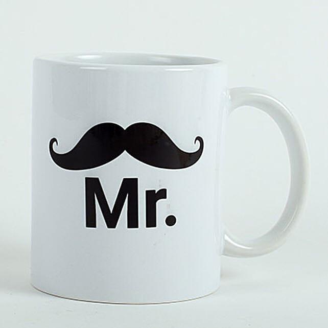 Printed White Mug for Him