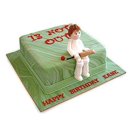 Not Out Cricket Cake 2Kg Black Forest