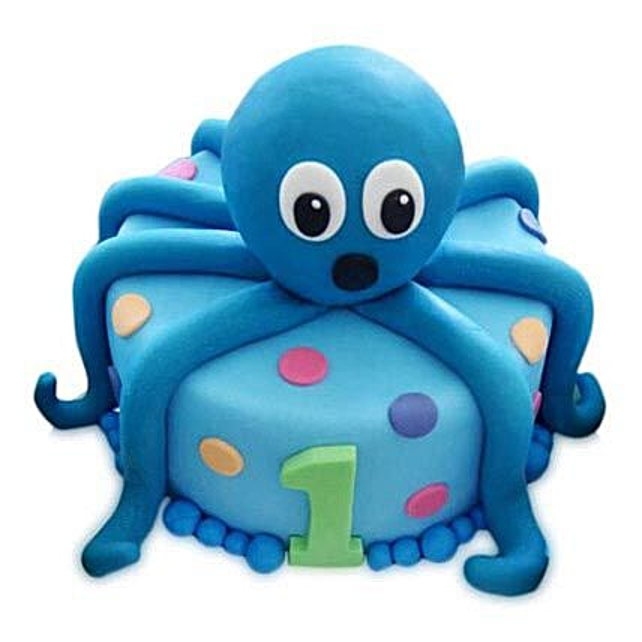 Octopus Cake 3Kg Eggless Vanilla