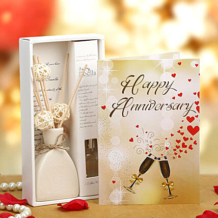 Perfect Anniversary Gift-Anniversary Greeting Card,Blackrose Essential Oil