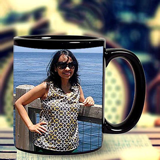 Personalized Photo Mug-black ceramic coffee mug:Personalized Anniversary Mugs