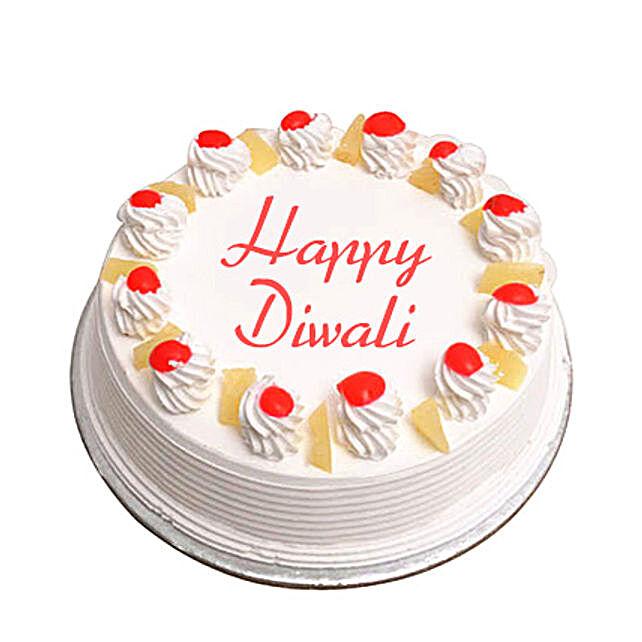 Pineapple Cake For Diwali Eggless 1Kg