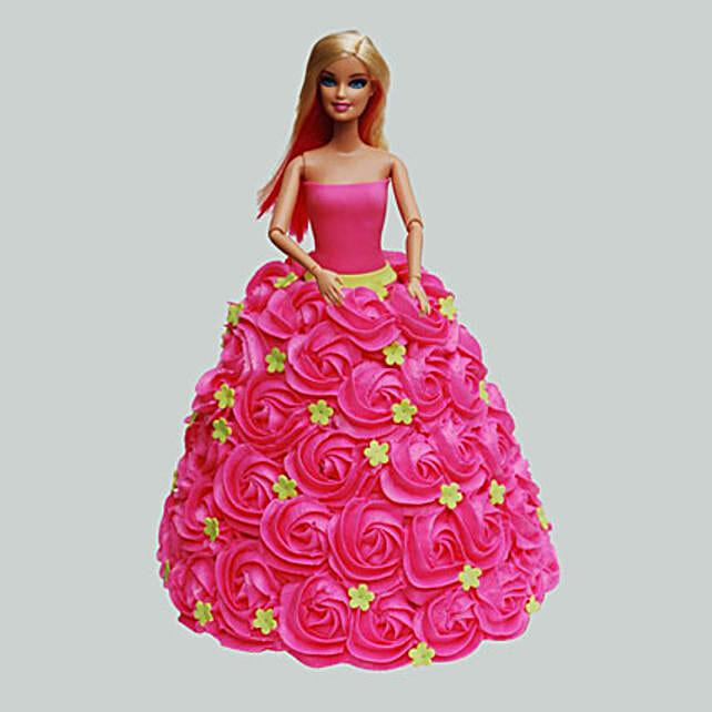 Pink Barbie Cake Chocolate 3kg