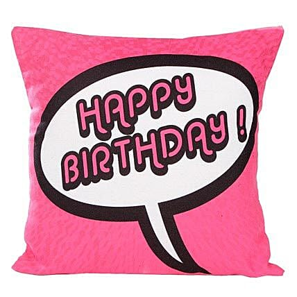 Pink Birthday Cushion