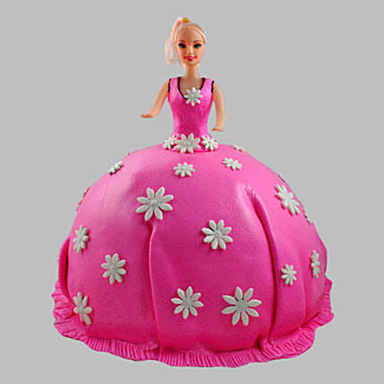Pink Delight Barbie Cake 2Kg Pineapple
