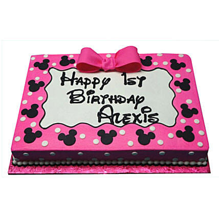 Pink Mickey Mouse Delight Cake 2Kg Butterscotch