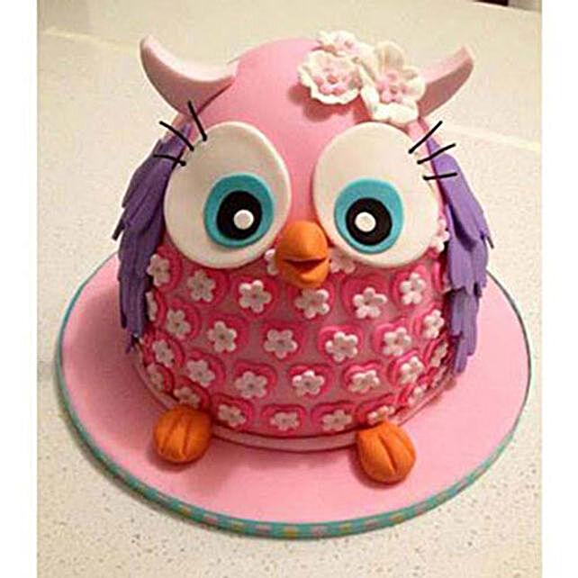 Pinki The Owl Cake 2kg Butterscotch Eggless