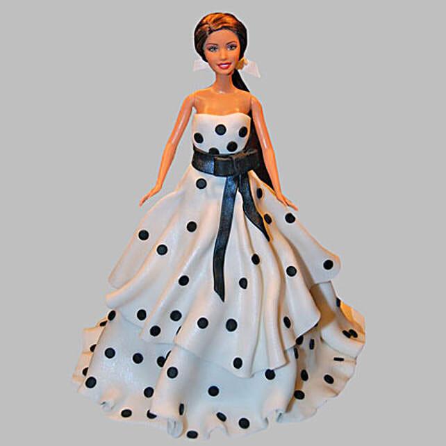 Polka Dots Dress Barbie Cake 2Kg Truffle
