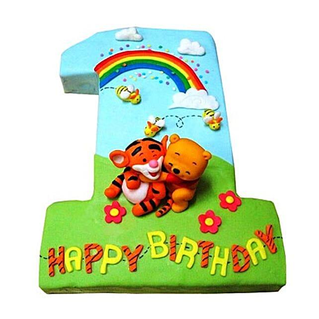 Pooh Tigger Cake 2kg Pineapple Eggless