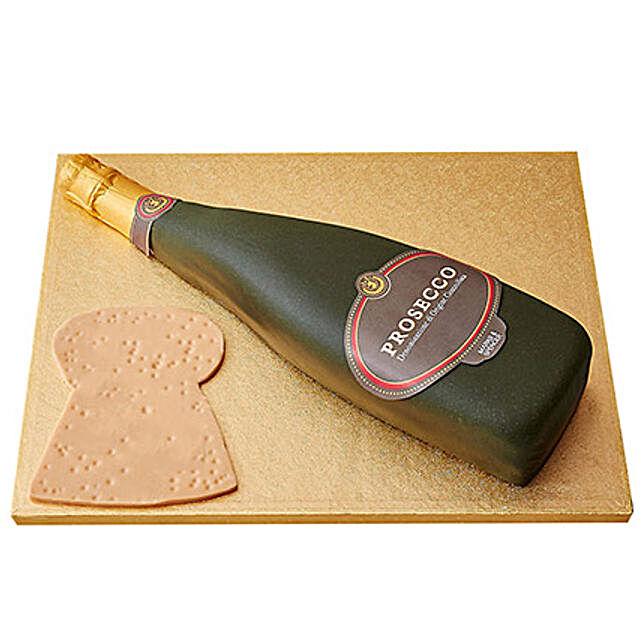 Prosecco Fondant Cake Chocolate 4kg