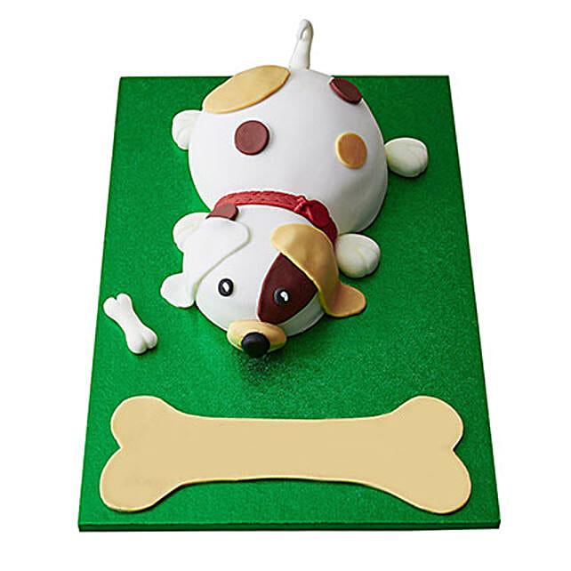 Puppy Fondant Cake Vanilla 3kg
