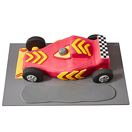 Racing Car Fondant Cake Pineapple 3kg Eggless