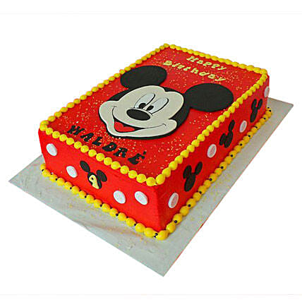 Red Mickey Mouse Cake 4Kg Eggless Pineapple