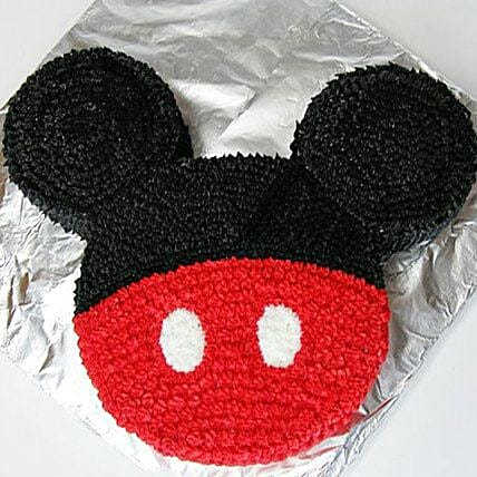 Red N Black Mickey Mouse Cake 3kg Eggless Black Forest