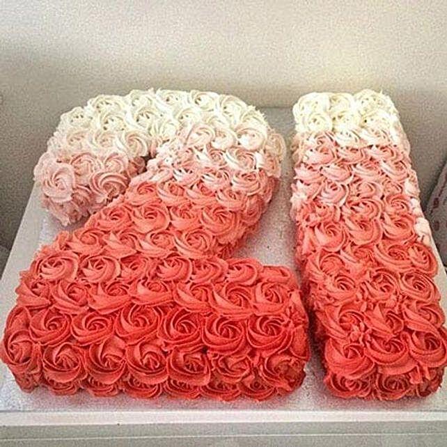 Rose Cream Cake 4kg Eggless Vanilla