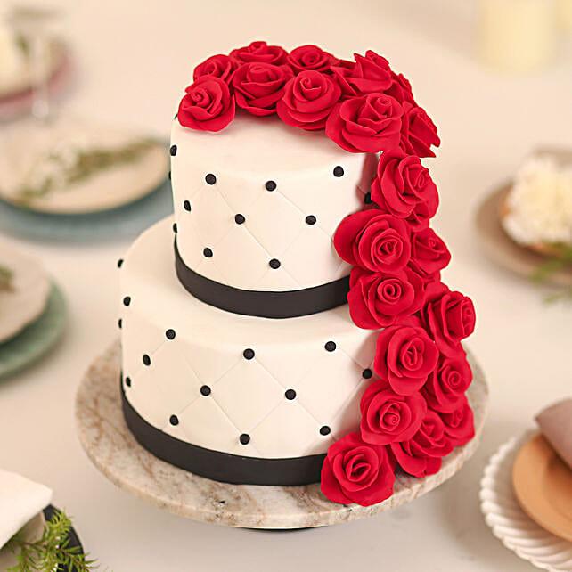 Rose Fondant Cake Butterscotch 5kg
