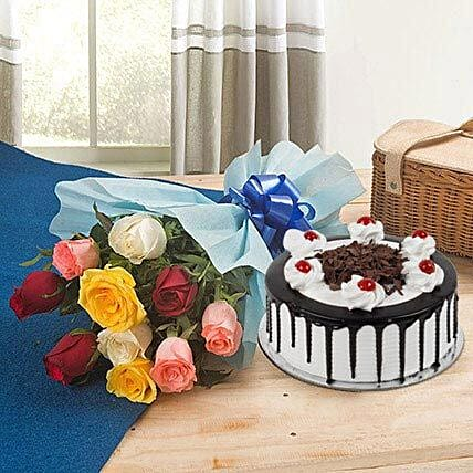 Roses and Black Forest Cake Standard